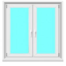 Окно пластиковое двухстворчатое Proplex, Goodwin, Grain, KBE 58мм.