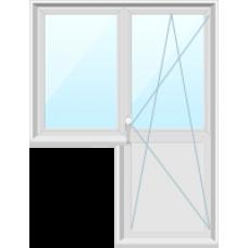 Окно с балконной дверью Proplex, Goodwin, Grain, KBE 58мм.